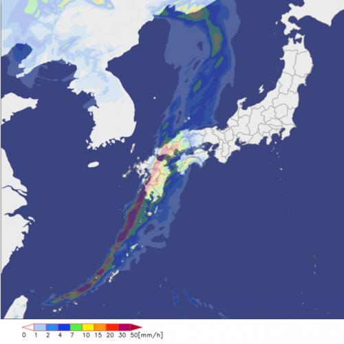 15時の雨の予想 熊本大分も激しい雨に警戒