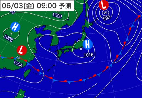 20160602_3日9時予想天気図