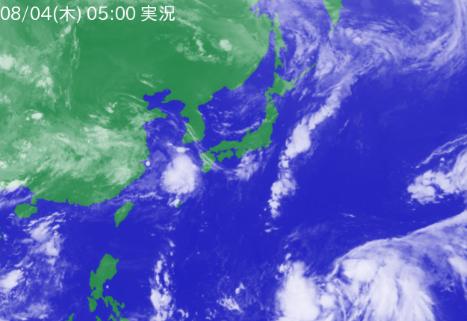 4日5時の気象衛星