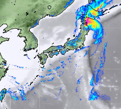 17日15時予想雨雲