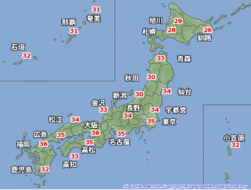 8月4日最高気温
