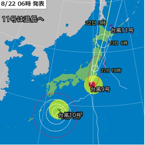 22日6時台風