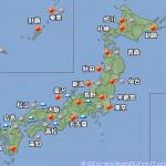 今日も西日本で秋雨が続く