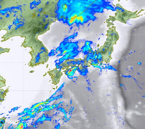 9月5日15時予想雨雲