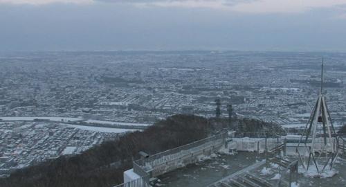 6日の札幌市白石区の積雪画像