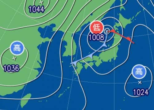 1月22日9時予想天気図