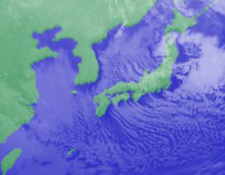 1月15日3時気象衛星雲画像