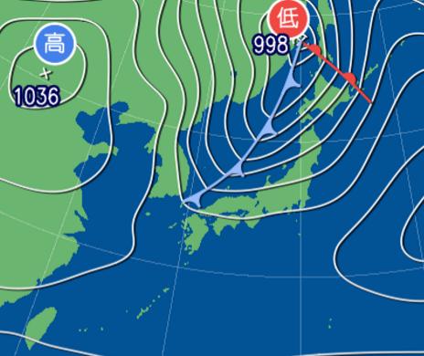 1月27日9時予想天気図