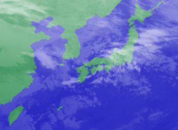 1月29日3時気象衛星雲画像