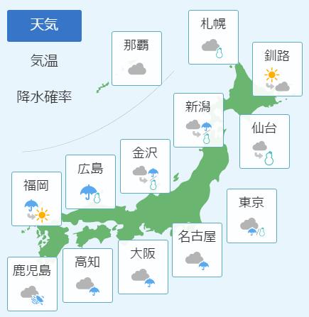 1月20日天気予報