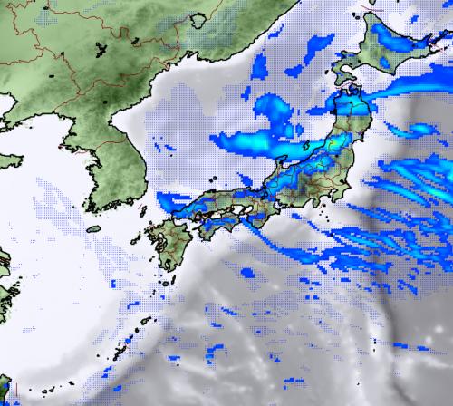 1月16日12時レーダー降水予想