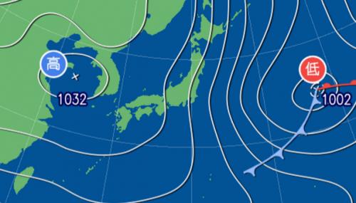 1月17日9時予想天気図