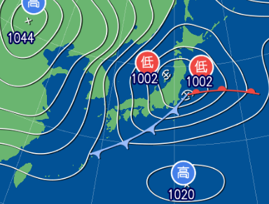 1月30日9時予想天気図