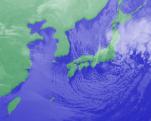 1月21日3時気象衛星雲画像