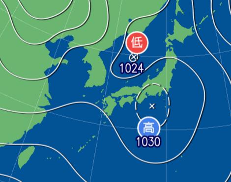 1月18日9時予想天気図