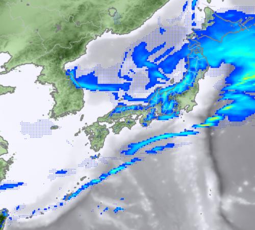 1月30日12時レーダー予想降水域