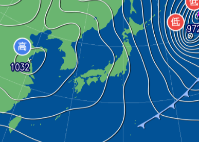 1月31日9時予想天気図