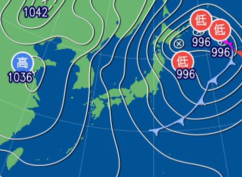 1月23日9時予想天気図