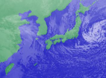 1月17日3日気象衛星雲画像