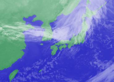 1月27日3時気象衛星雲写真