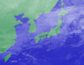 1月30日3時気象衛星雲画像