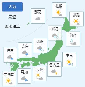 1月21日天気予報