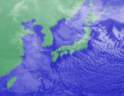 1月16日3時気象衛星雲画像