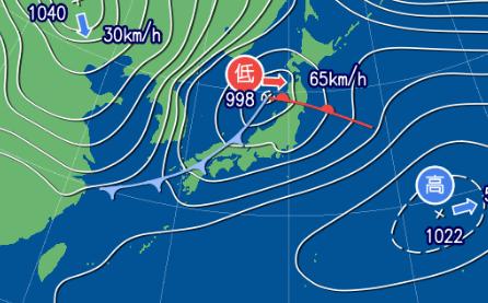 2月20日12時の天気図