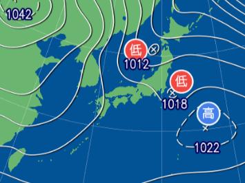 2月1日9時予想天気図