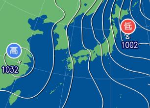 2月11日21時の予想天気図