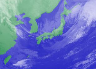 2月21日3時のひまわり雲画像
