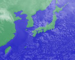 2月14日3時のひまわり雲画像