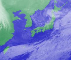 2月6日3時気象衛星雲画像