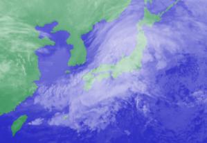 2月23日3時のひまわり雲画像