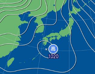 2月8日9時の予想天気図