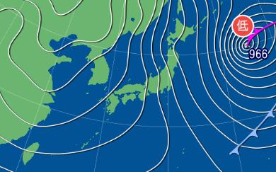 2月7日9時の予想天気図