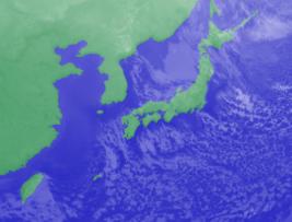 2月13日4時のひまわり雲画像