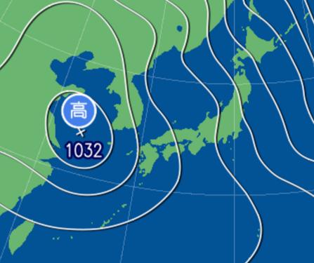 2月3日9時予想天気図