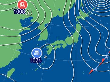 2月19日9時の予想天気図