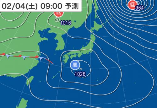 20170202_3日9時予想天気図