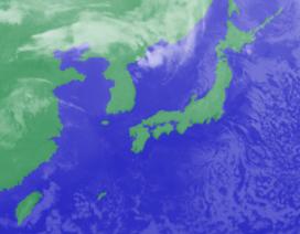 2月16日4時のひまわり雲画像