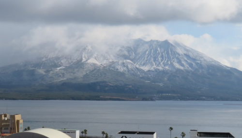 2月10日桜島の雪