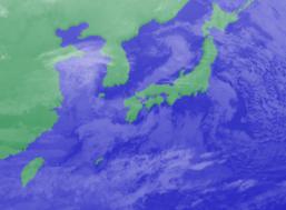 2月1日3時気象衛星雲画像