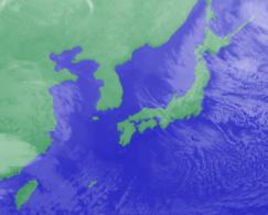 2月3日3時気象衛星雲画像