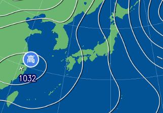 2月13日9時の予想天気図