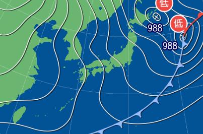 3月7日9時の予想天気図