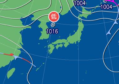 3月5日9時の予想天気図