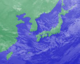 3月8日3時のひまわり雲画像