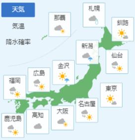 3月4日の天気予報
