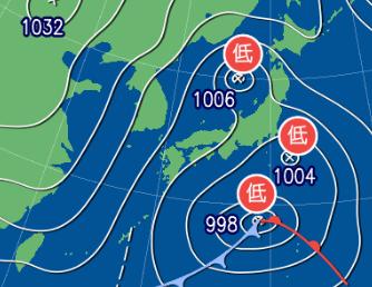 3月14日9時の予想天気図